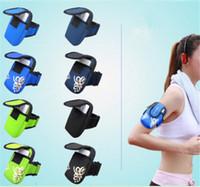 Deportes al aire libre corriendo móvil brazalete brazo cremallera jogging gimnasio ejercicio bolsa bolsa de teléfono para iphone