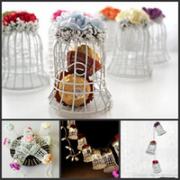New Wedding Favor Boxes White Metal Bell Birdcage Shaped wit...