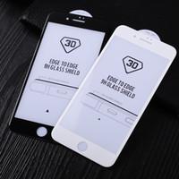 Pour l'iphone 7 plus haute qualité pleine colle 3D courbé bord de verre trempé à Edge Shield Curve écran protecteur couverture pour iphone7