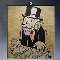 Алек Монополия граффити уличного искусства, чисто Ручная роспись граффити Поп Арт картина маслом на Canvas.any заказной размер принят арт-соу