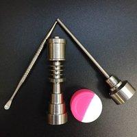 Titanium Outils Pour 16mm 20mm Coil Titane Capuchon De Clous Et Dabber Pour Bongs De Verre De Batiment D'huile TCC01 + TN02-16 / 20 + TD01