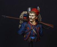 Оптово Неокрашенная Kit 1/10 Французская легкая пехота бюст Исторический второй мировой войны Рисунок Resin Kit Бесплатная доставка