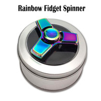 Rainbow Fidget Spinners Toy Hand Spinners Alliage d'aluminium Tri-Spinner Bearing EDC Finger Tip vs Ice Blue Spinners Fidget Toy