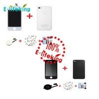 Bonne qualité LCD Touch Digitizer + Housse arrière + Bouton Home + Screws + Outils avec cadre complet Remplacement complet de l'Assemblée pour iPhone 4 4s