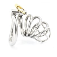 Stainless Steel Male Chastity device Adult Cock Cage With ar...