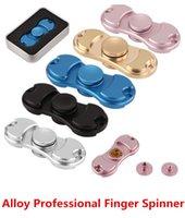 Spinners à main Fidget Matériau en alliage EDC Texture métallique 2017 Nouveaux jouets à doigts pour faciliter le trouble obsessionnel-compulsif Livraison gratuite DHL