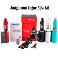 Original Amigo ITSUWA Amigo Mini Vogue 50W Kit E Kits de cigarettes amigo mini sub kit Boîte Mod Mini Vega réservoir 1500mAh Built-in Batterie