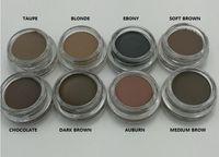 DIPBRO Pomade avec Duo Eyebrow Brushes Cils Eyelash Brosse 12 # Blending Brosse Sourcil Cosmétique Maquillage Brosse Set