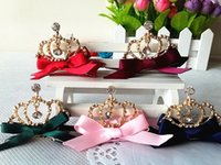 New Style Hot Sale Girls Shiny Rhinestone Crown Shaped Hair ...