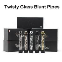 Извилистые Glass Blunt Трубы сухой травы Испарители курительные трубки Twist Me Vape наборы с большим количеством Accessries 7pipes High Quality Clone