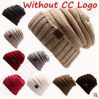 13 цветов Unisex Трикотажное CC Beanies Осень Повседневная Cap вязаные шапочки теплые зимние шапки Vogue вязаных шапочках Without CC Логотип CCA5336 200шт
