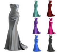 Hot Selling 2017 Silver Grey Burundy Mermaid Bridesmaid Dres...