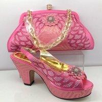 Pink color good quality handwork rhinestone shoes free shipi...