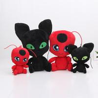 10pcs 15cm - 30cm PLUSH keychain Miraculous Ladybug Cat Noir ...