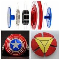 3 diseños creativos capitán América Shield Hand Spinner hierro hombre Fidget Aleación Puzzle Juguetes EDC autismo ADHD dedo Gyro juguetes CCA5909 50pcs