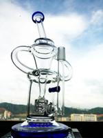 Mélange couleur mini taille verre pipe d'eau fonction recycleur percolateur bong hbking bong plates-formes pétrolières 14mm joint