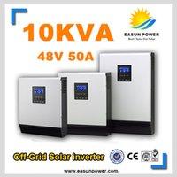 Горячее надувательство солнечного инвертора 10Kva 8000W с инвертора сетки 48V к 220V 50A PWM Чисто инвертор синуса гироскопа волны 60A AC заряжатель