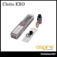 Authentique aspire Cleito EXO Tank 2ml / 3.5ml e-Juice Capacité Tank Convenable Haut Remplissage Atteinte de réservoir d'écoulement d'air haut de gamme