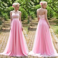 2017 Sweety Pink Sweetheart Long Bridesmaid Dresses Custom M...