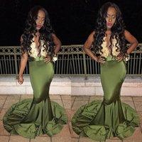Африканский сексуальное длиннее платье 2K17 Глубокий V шеи Кружева атласная Длина пола Черная девушка Mermaid платья вечера одежды 2017