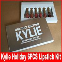 Новый цвет блеск для губ Новый Прибыл! Kylie праздник издание мини-Дженнер Limited День рождения издание Gloss В попсовое 6 Разные цвета губ