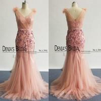 Новый 2017 платья невесты Blush Pink Тюль Глубокий V шеи Bling Bling Sequins аппликация Длина пола платье фрейлины платье платья партии реальных изображений