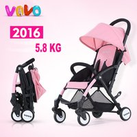 Folding stroller lightweight traveling poussettes protable p...