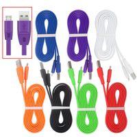 2017 Hot Sale 1M 3Ft Colorful TPE Flat Noodle Cable For Micr...