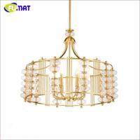 Luxury Copper Pendant Lamp Brief Lustre Metal Lamp Glass Bub...