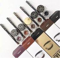 Kylie cosmétiques gel eye-liner Pen Eyebrow 1 set = eyeliner + brosse + crème kylie Jenner kit bronze caméléon Kyliner noir brun maquillage dhl