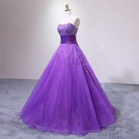 Cheap Beaded Evening Gown Crystals Sweetheart Strapless Orga...