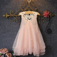 2017 Summer Baby Girl Clothes Fashion Tulle Lace Beaded Prin...