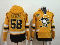 Новое прибытие Летанг 58 Желтый свитер Новые Питтсбург Пингвинз Хоккей толстовки Прохладный пальто сшиты Спортивный Открытый Одежда для мужчин