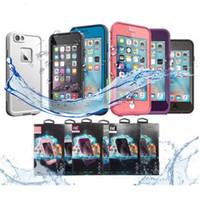 Casos sumergibles del teléfono Caso impermeable a prueba de nieve de Freeshipping de la nieve de la suciedad resistente para el iPhone 6 6S 4.7 con la calidad AAA ++ del paquete al por menor