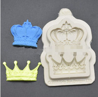Crown Princess Queen Prince 3D Silicone Mold Fondant Cake Mo...