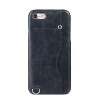 Pour iphone 6 6s 7 plus vintage rétro portefeuille en cuir pleine protection cas de carte fentes couvercle arrière pour iphone 6 plus 7 plus