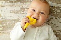Baby Banana Chewable Bendable Teether Training Yellow Toothb...