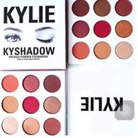 предпродажная Кайли Дженнер Косметика Kyshadow теней Kit палитры Eyeshadow Бронзовый Preorder Косметические 9 цветов Бесплатная доставка
