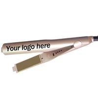 Настройка логотипа OEM логотип щетка для выпрямления волос плоский утюг волос утюга для укладки волос инструменты DHL бесплатно