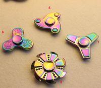 Rainbow Aluminium Alloy Hand Spinner Doigts Spirales Fingers Gyro Torqbar Fidget Spinner Jouet De Décompression Avec Boite De Distribution