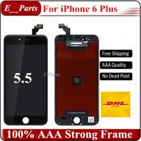 Pour iPhone 6 Plus LCD (5,5 pouces) Ecran LCD Touch Digitizer Ecran complet avec cadre Full Assembly Remplacement