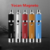 Authentique Yocan Magneto kits de démarrage avec batterie 1100mAh Magnétique bobines en céramique Yocan Wax Vapor Pen Yocan évoluer plus Kits E Cigs Dhl