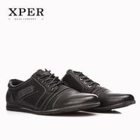 2016 XPER Brand Mens Casual Shoes Lace- up Brown Men Flats Sh...