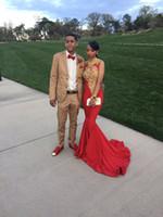 2017 Red Carpet Русалка знаменитости платья с высоким горлом Золотошвейное сексуальное платье вечера мантии выпускного вечера платья Pageant