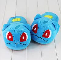 EMS 27cm Anime Poke Cute Bulbasaur Slippers Plush Toys Soft ...