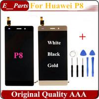 1Pcs qualité originale AAA pour Huawei P8 affichage LCD écran tactile verre digitizer remplacement Ascend P8 GRA-UL00 / -UL10 GRA-L09 avec des outils