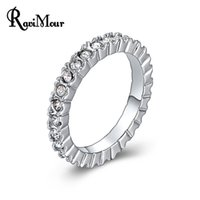 New White Gold Color Classic Wedding Rings for Women Jewelry...
