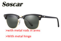 Soscar Fashion Sunglasses Brand Designer Sunglasses Half Fra...