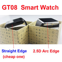 GT08 DZ09 Bluetooth Smart Watch Sport Wristband Bracelet Smartwatch avec fente pour carte SIM et NFC Santé U8 Watchs pour Android IOS Smartphone