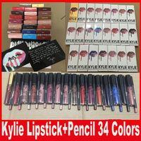 Последние 34 стиля KYLIE JENNER LIP KIT lipliner Губная карандаш для губ Velvetine Жидкая матовая губная помада в красном бархатном макияже Lip Gloss
